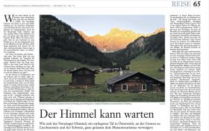 Nenzinger Himmel Frankfurter Sonntagszeitung