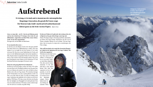 Ute Watzl Interview Alpin Magazin Luka Lindic